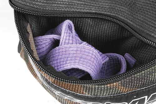 Don't put a damp belt in any sort of sealed pocket, let it breath!