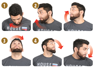"""Note: In the fitness world these aren't called """"neck rotations"""" (Look Side To Side is); however, I feel the name suits them better because of the movement."""